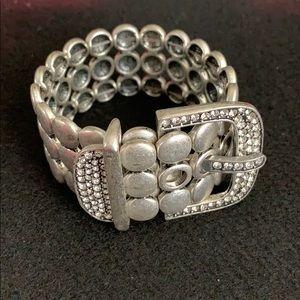 Jewelry - Belt Buckle Rhinestoned Bracelet